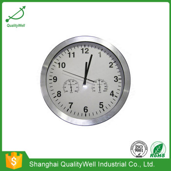 Wall Clock With Thermometer/Temperature & Hygrometer/Humidity 300mmal