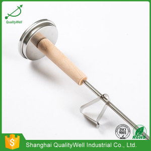 Wooden handle bimetal thermometer T300WH