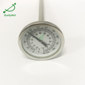 Bimetal thermometer for fermentation