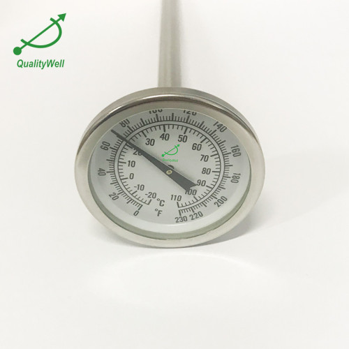 Bimetal thermometer for fermentation