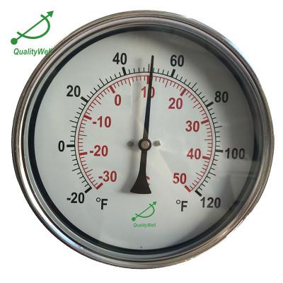 6'' hot water bimetal thermometer