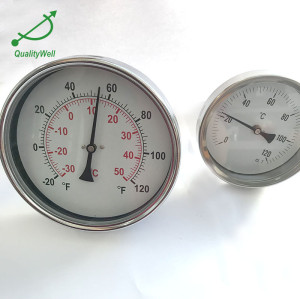 6'' hot water bimetal thermometer