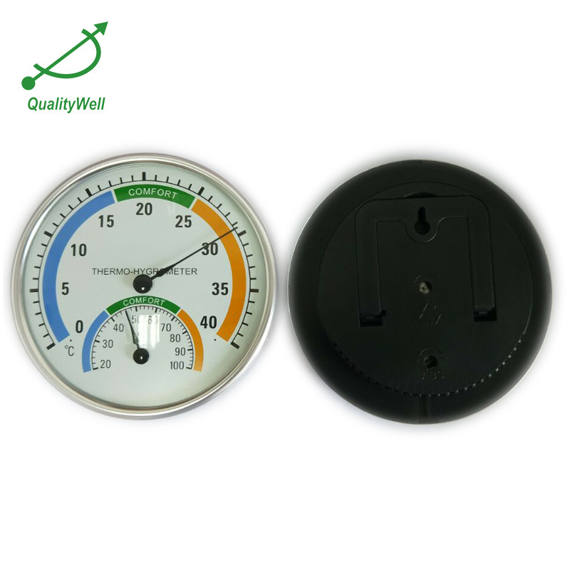 Wall Clock With Thermometer/Temperature & Hygrometer/Humidity TH-2
