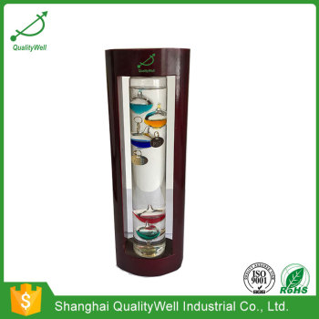 Wooden Frame Galileo Thermometer WGA
