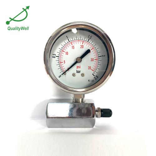 Valve for water pressure gauge