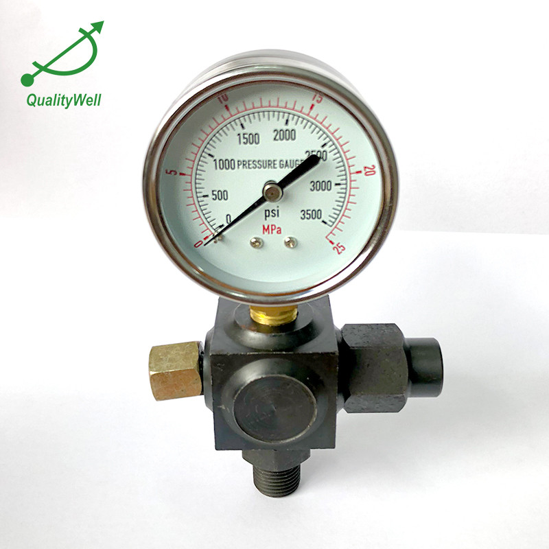 Transmitting valve for pressure gauge