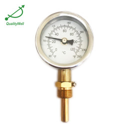 2.5'' high case hot water thermometer I221H