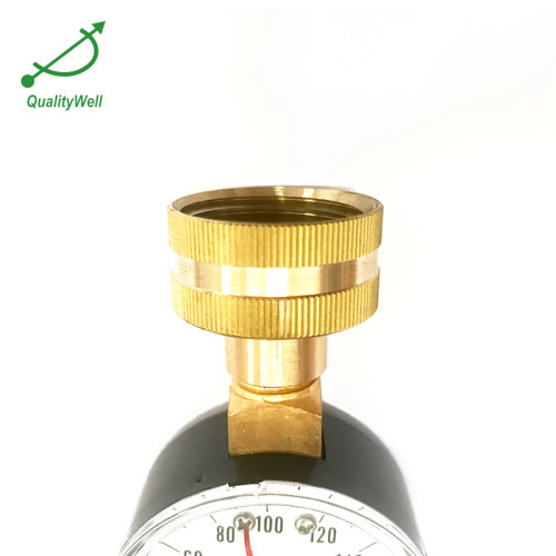 water pressure gauge with top connection WPG200