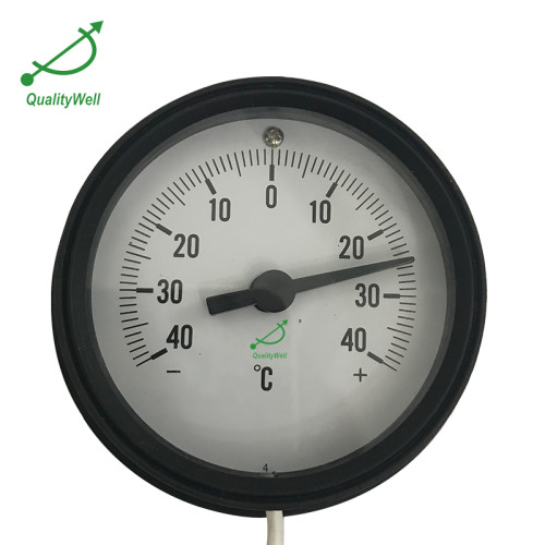 Plastic Case Remote Reading Thermometer With Rear Flange 221RF12011