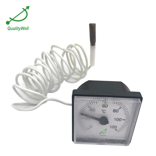 Plastic Case Remote Reading Thermometer With square dial 200RF20011S
