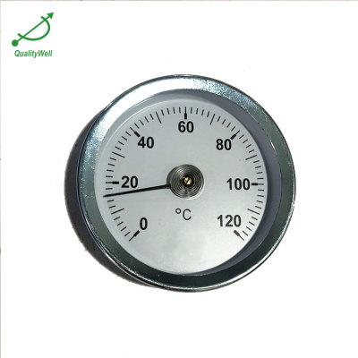 Zinc plated steel spring thermometer ST221SS-4