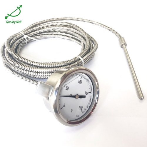 60mm back connection remote reading thermometer with U-clamp 221RF23022O
