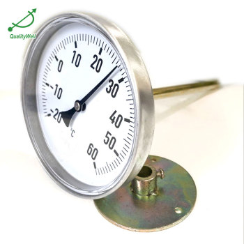 Back connection bimetal thermometer T series T400AFP