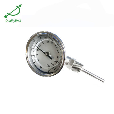 Bottom bimetal thermometer with right connection I300R