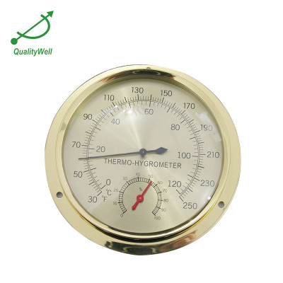 Brass hygrometer and thermometer  THB600