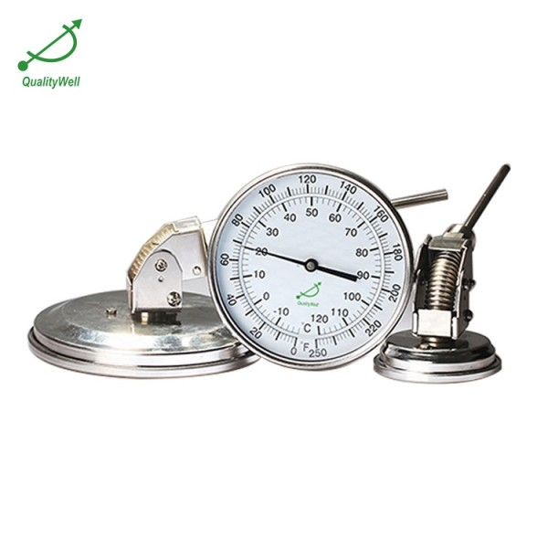 Adjustable connection bimetal thermometer A series