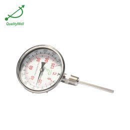 Bottom connection bimetal thermometer I series