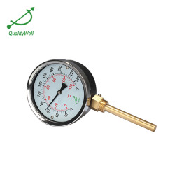 Bottom connection hot water bimetal thermometer I400H