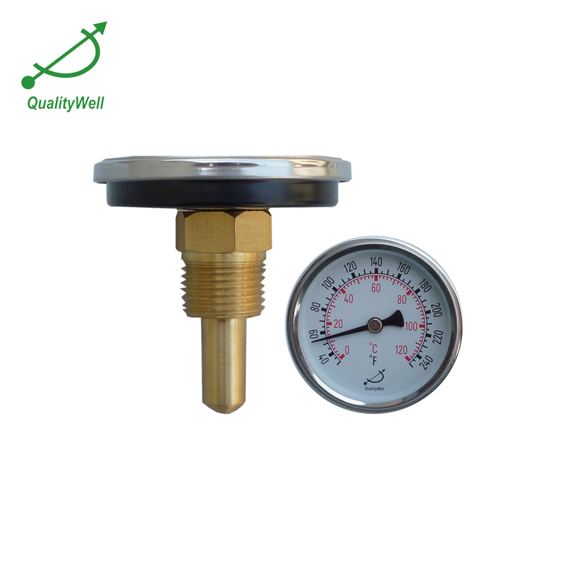 back connection hot water bimetal thermometer