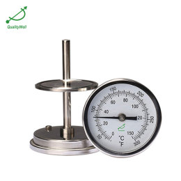 Back connection bimetal thermometer T series T400CF