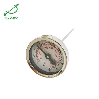 50mm diameter pocket bimetal thermometer with thread