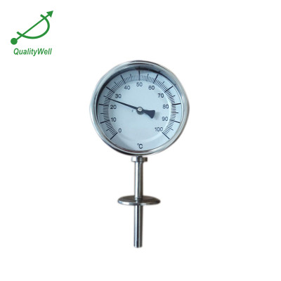 Bottom connection bimetal thermometer with 1.5