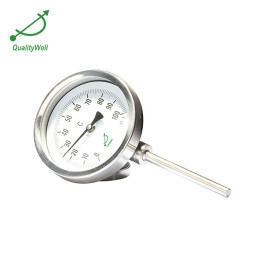 bayonet bezel bottom connection bimetal thermometer I series IE type