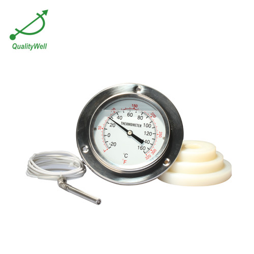"""4""""back connection remote reading thermometer with top flange 400RF21022F"""