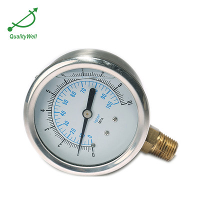 Bottom connection oil filled pressure gauge PG400OV