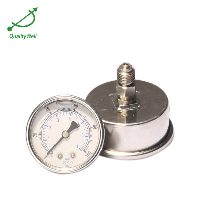 Back connection oil filled pressure gauge PG221OH