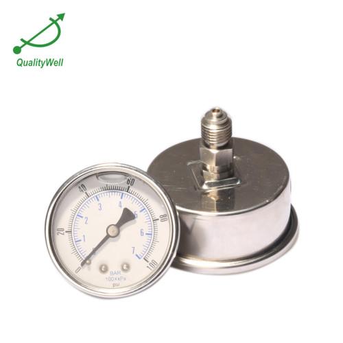 Back connection oil filled pressure gauge PG221OH