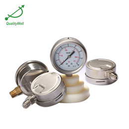 Bayonet bezel oil filled pressure gauge PG400OVB