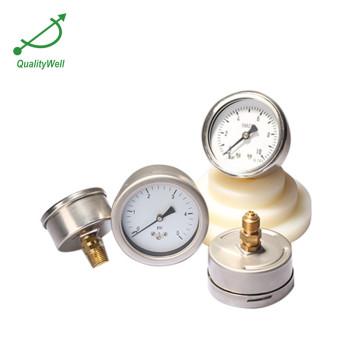 All stainless steel low pressure gauge LPG221H