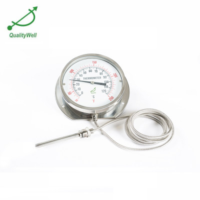 150mm bottom connection remote reading thermometer 600RF12122
