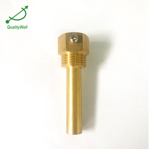 Brass thermowell QWTWB