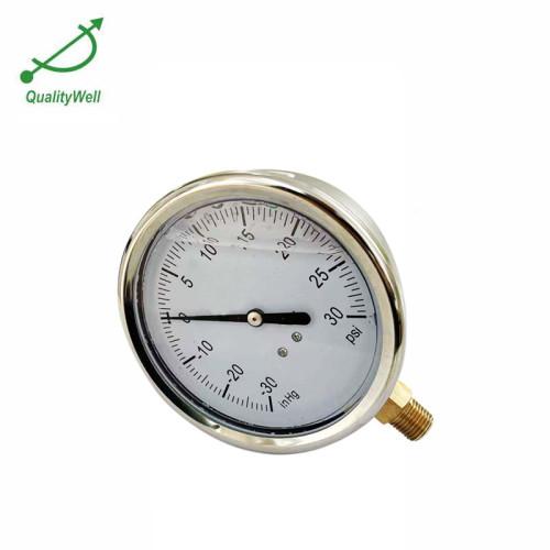 Bottom connection oil filled pressure gauge PG400OV