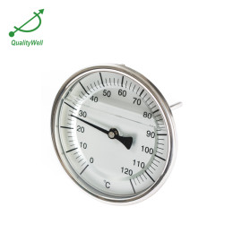 100mm dial oil filled bimetal thermometer LFT400
