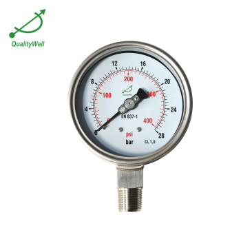 All stainless steel gauges with bayonet bezel PG221BVNED