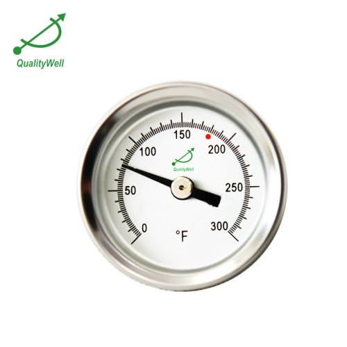 1.6'' Back connection bimetallic thermometer T153P