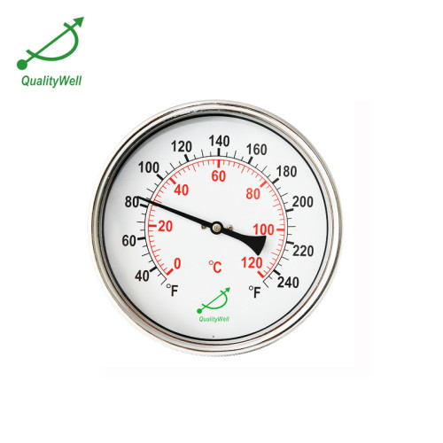 6'' hot water bimetal thermometer T600HL