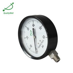 Black steel case ammonia pressure gauge APG400AV