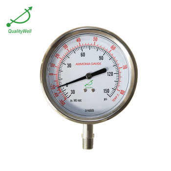 SS304 case ammonia pressure gauge APG400CV