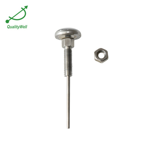 Pocket bimetal thermometer with long thread PT1005C