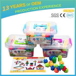 Fancy and creative children plastic toy bricks