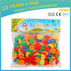 plastic childrens toys for wholesale, 226 pcs DIY Snowflake building block for kids