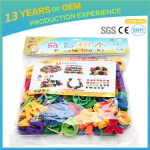 Hot funny 114 pcs baby' PP plastic big assemblage building blocks, environmental protection toys