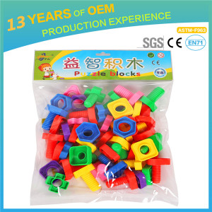 2018 New China factory diy toys,non toxic preshool toys, kids plastic 3d interlocking building block