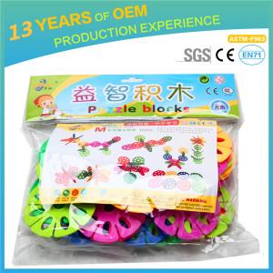 37 pcs colorful huge snowflake blocks, good quality kids toys exercise logic thinking