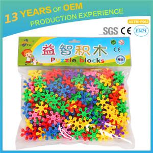 Construction Model Plastic Colorful Building Blocks Designer 3.5*3.5cm Toy bricks blocks with bag 500g