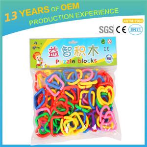 hot sale plastic colorful geometry shape building construction set toys